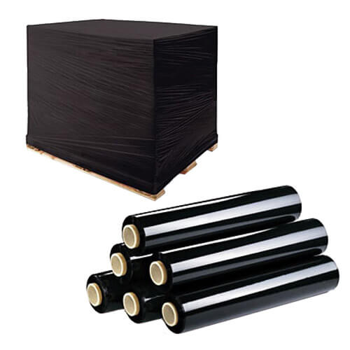 Black Industrial Stretch Wrapping Films