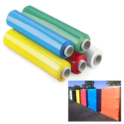 Colour Green Blue Red Yellow Black Golden Stretch Films